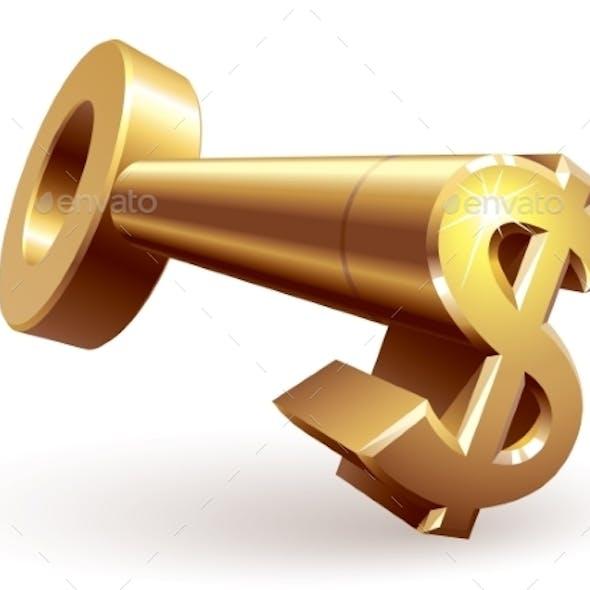 Gold Dollar Key