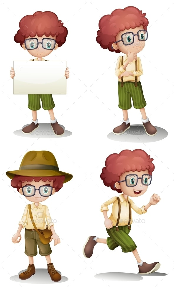 Different Moods of a Young Boy - People Characters