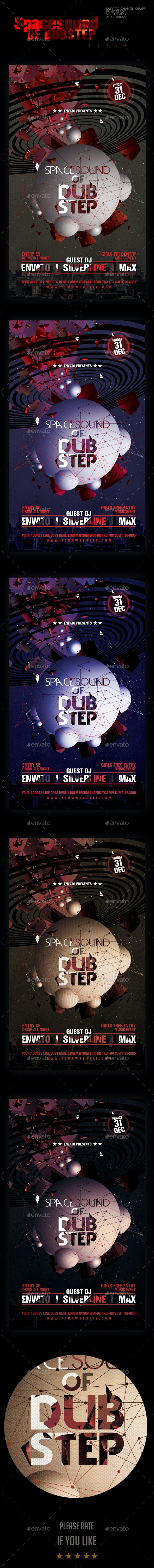 Space-Sound Dub-Step party Flyer Template - Clubs & Parties Events