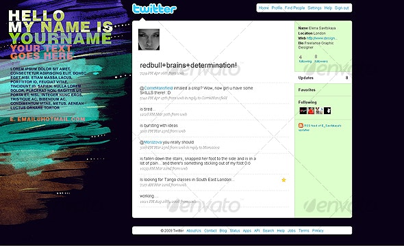 Arts and Typography Background for Twitter - Twitter Social Media