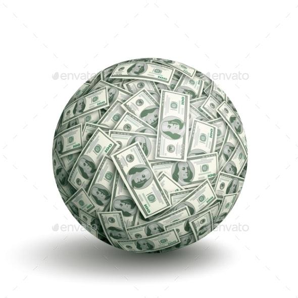 Dollar Ball - Business Conceptual