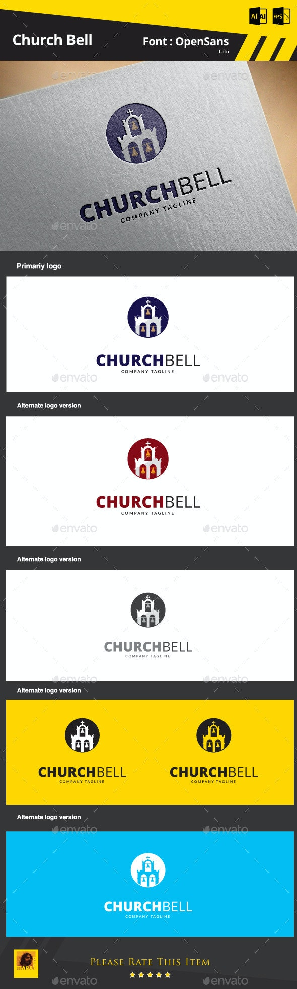 Church Bell Logo Template - Buildings Logo Templates