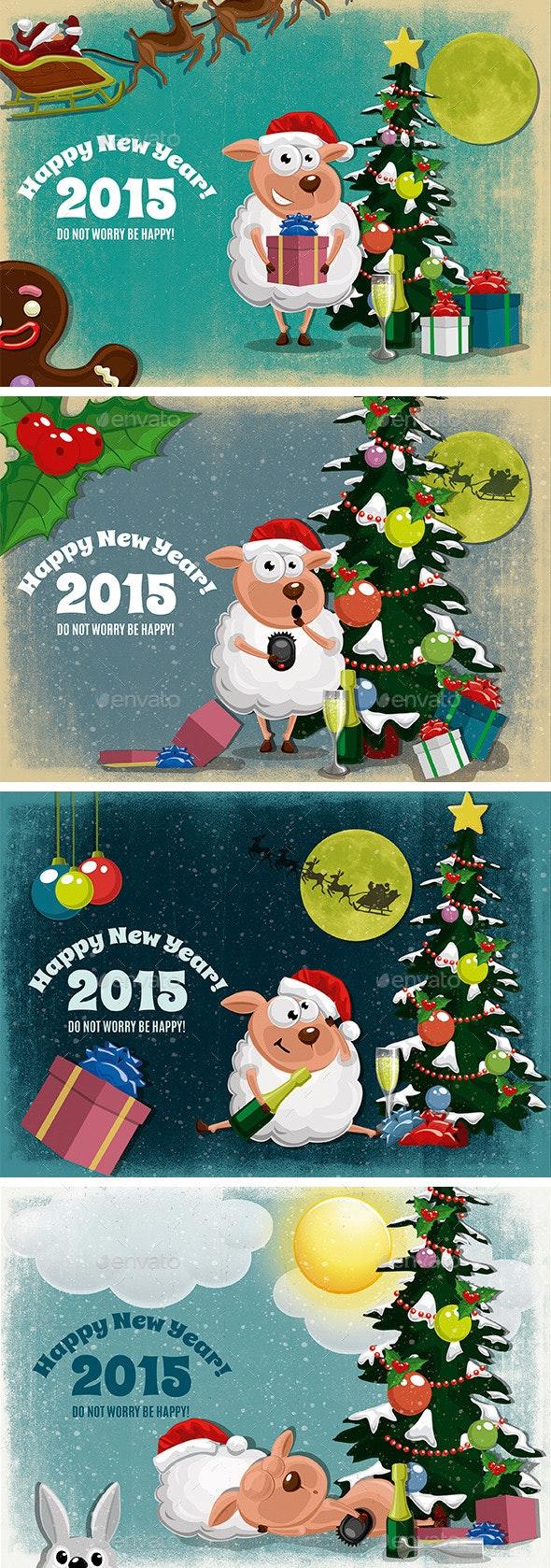 Christmas Story Of A Lamb - Illustrations Graphics
