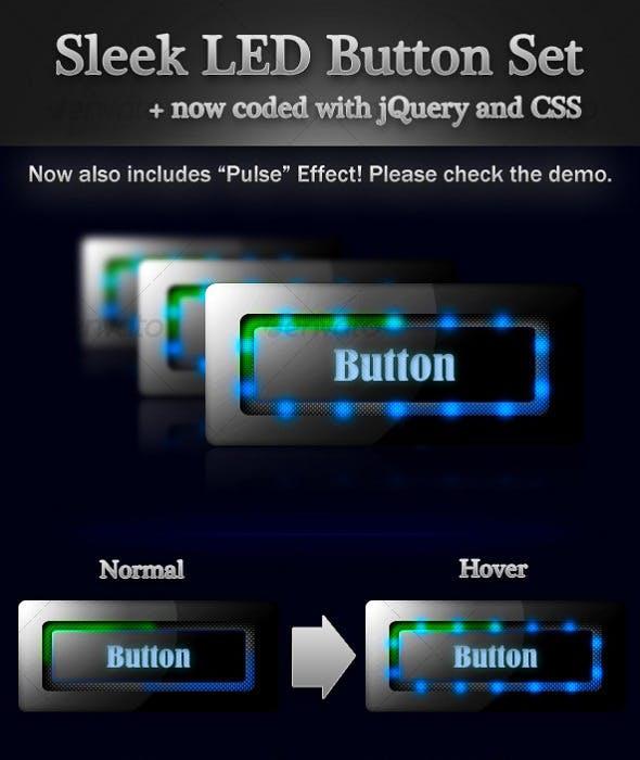 Sleek LED Button Set
