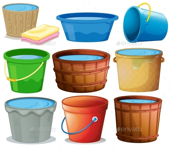 Bucket Set - Man-made Objects Objects