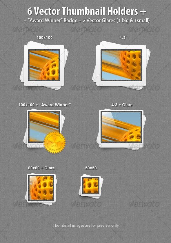 6 Vector Thumbnail Holders - Miscellaneous Web Elements