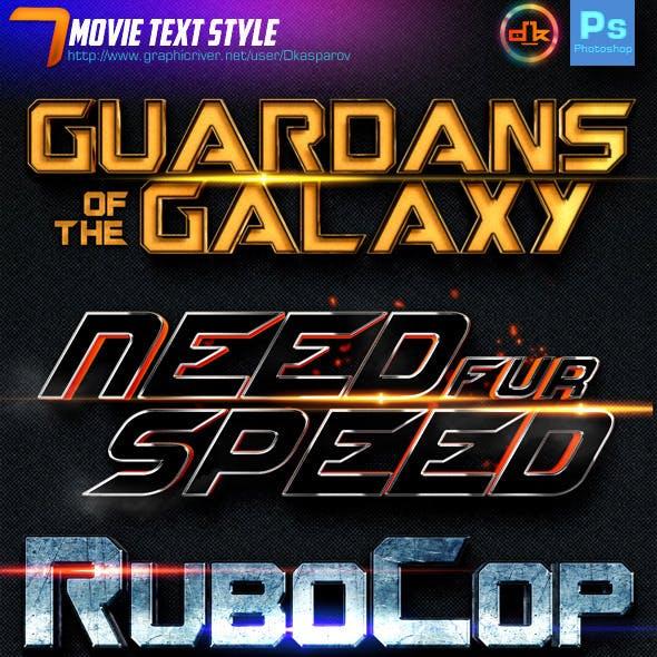 7 Movie Text Style Premium