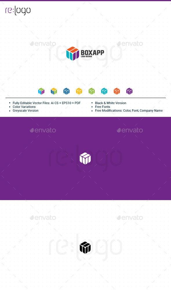 BoxApp Logo Design - Abstract Logo Templates