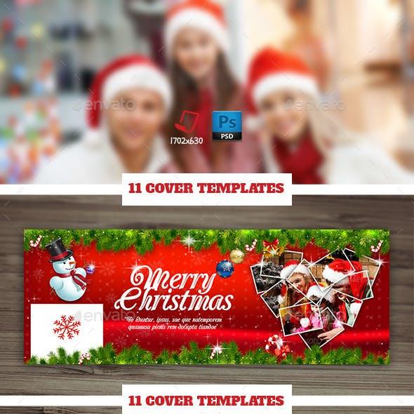 Christmas Timeline Cover Bundle Templates