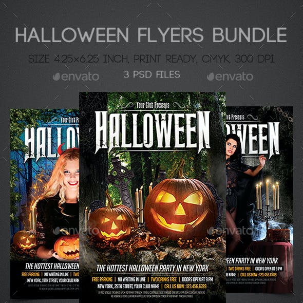 Halloween Flyers Bundle