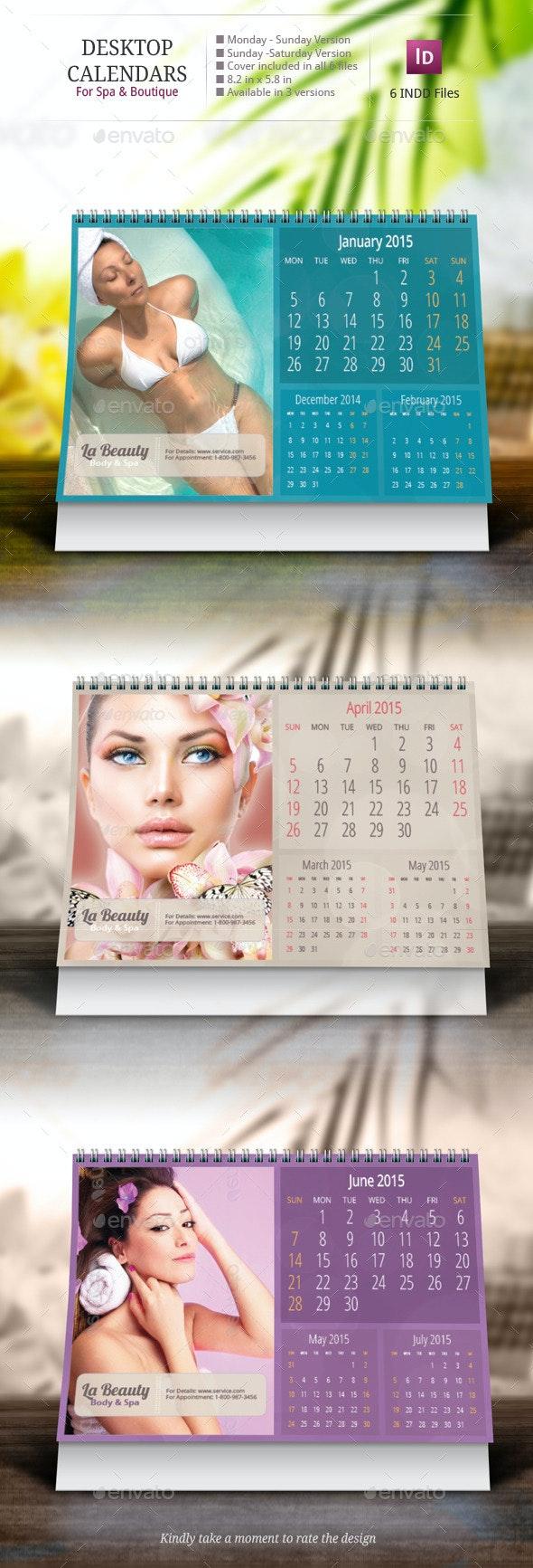 Desk Calendar Design Templates - Calendars Stationery