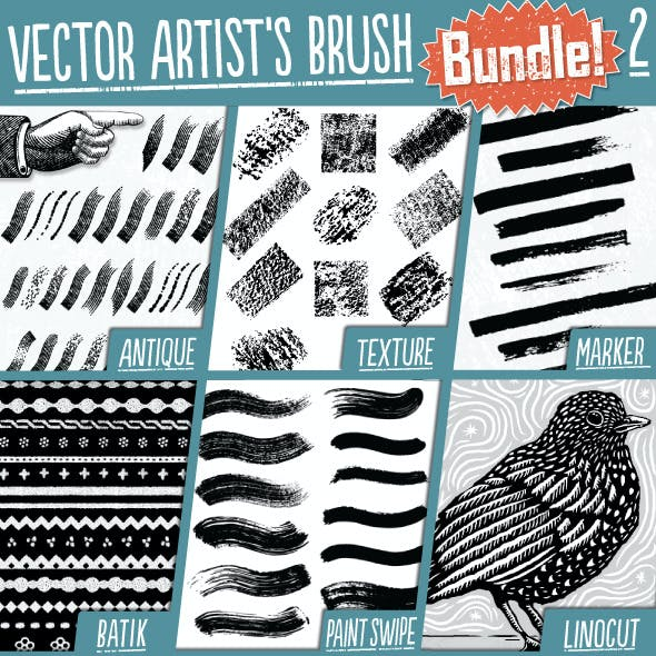 Vector Artist's Brush Bundle 2