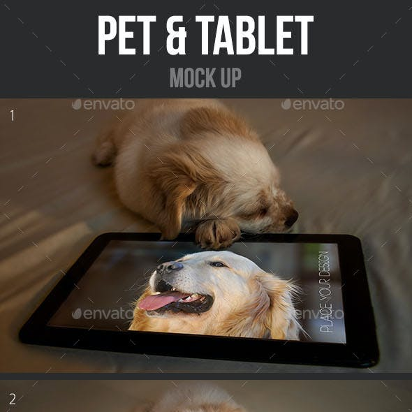 Pet & Tablet Mock Up