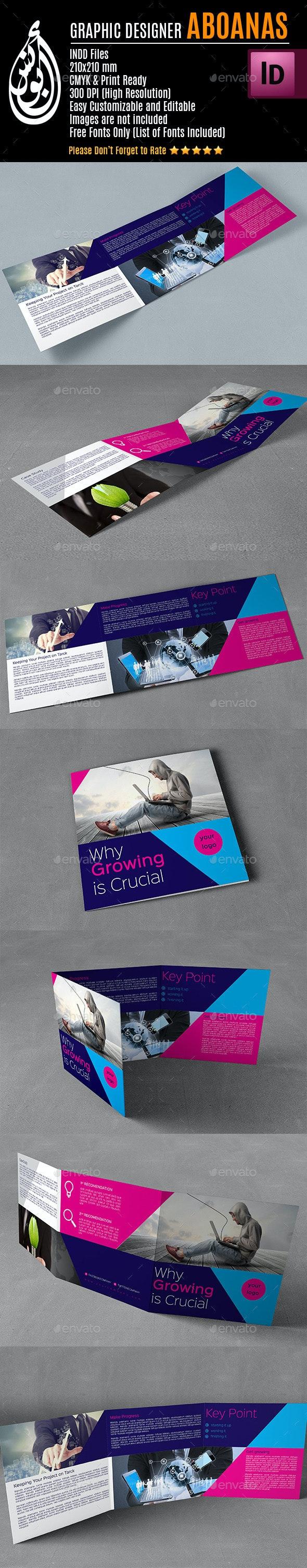 Tri-fold Square Brochure Template AA001 - Print Templates
