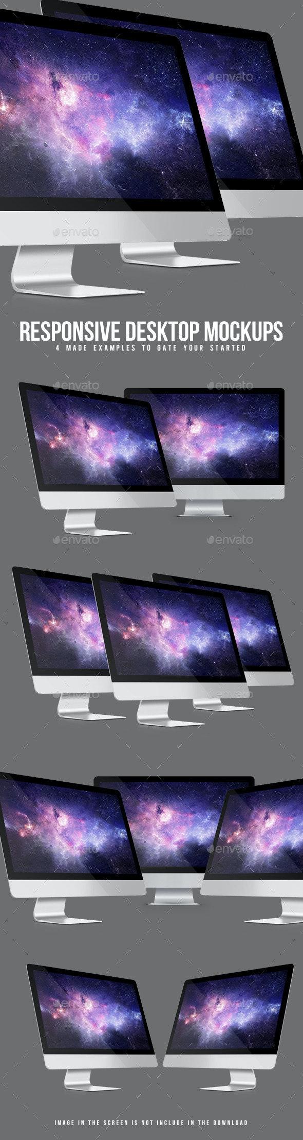 Responsive Desktop Mockups - Monitors Displays