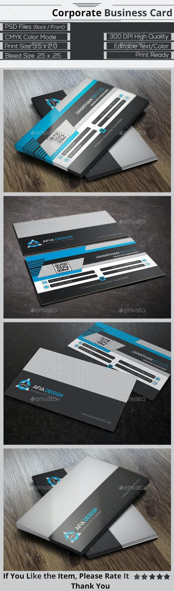 Smart  Creative  Corporate Business Card - Corporate Business Cards