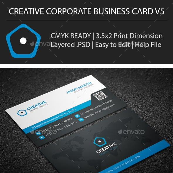Creative Corporate Business Card V5