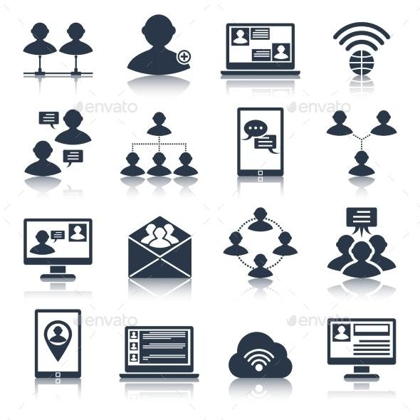 Communication Icons Set - Technology Icons