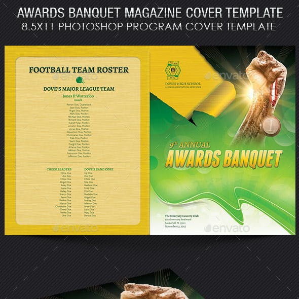 Awards Banquet Magazine Cover Template