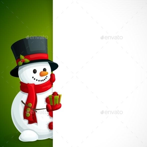 Snowman Christmas Leaflet - New Year Seasons/Holidays