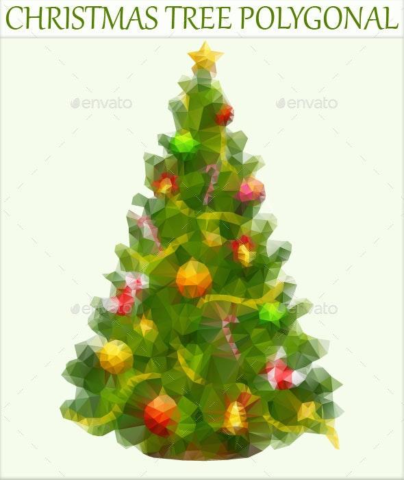 Christmas Tree Polygonal - Christmas Seasons/Holidays