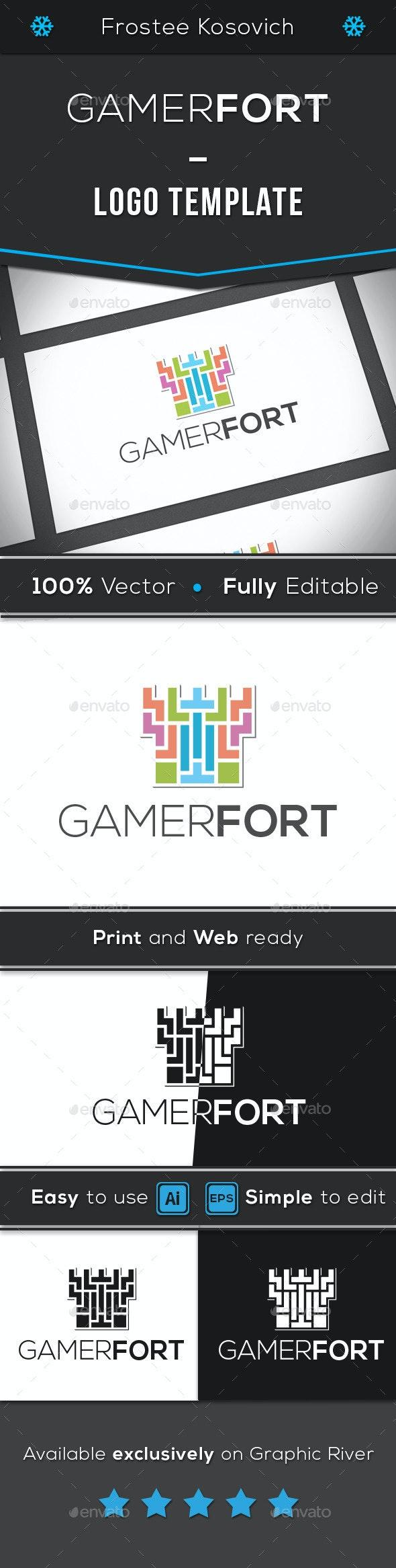 Gamer Fort - Buildings Logo Templates