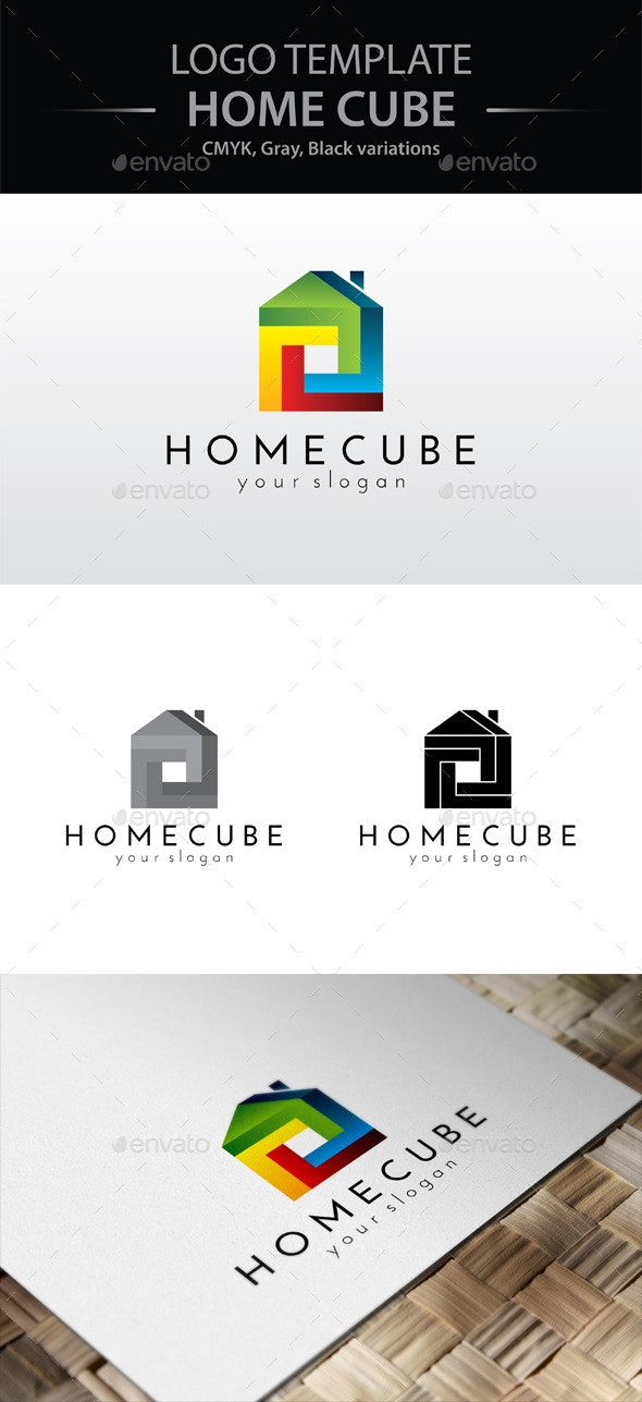 Home Cube Logo - Buildings Logo Templates