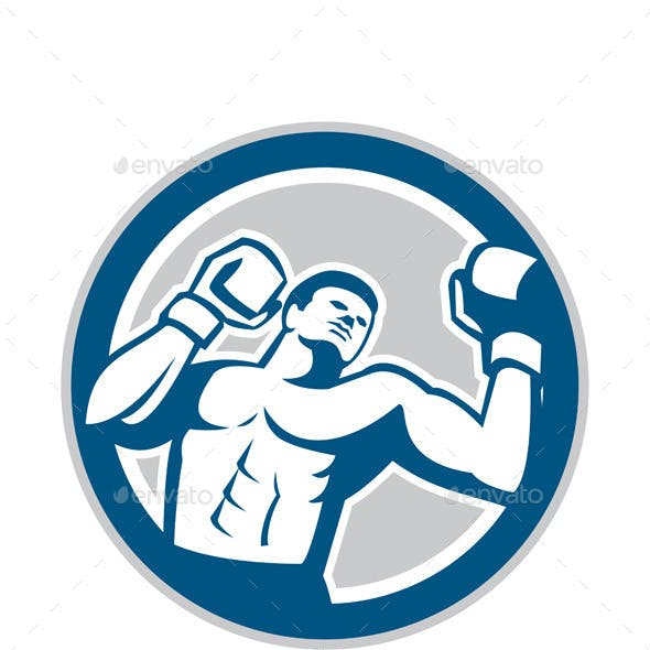 Boxer Boxing Boxing Circle Retro