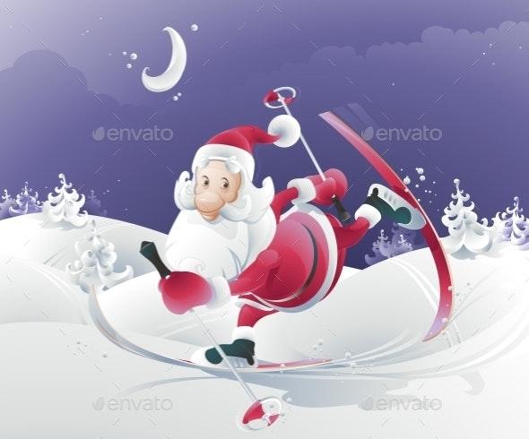 Vector Illustration of Santa Claus - Christmas Seasons/Holidays