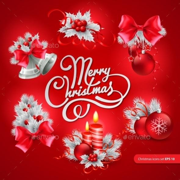 Christmas Greeting Card. Vector Illustration - Christmas Seasons/Holidays