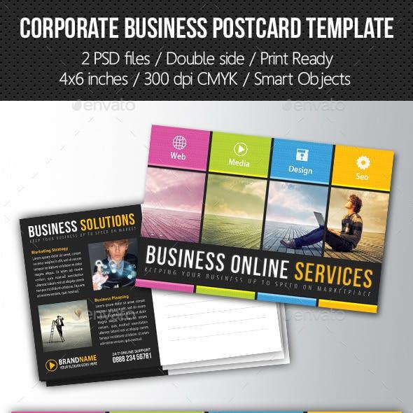 Corporate Business Postcard Template V01