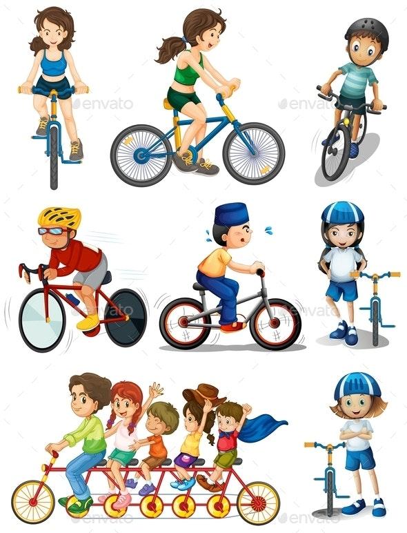 People Biking - People Characters