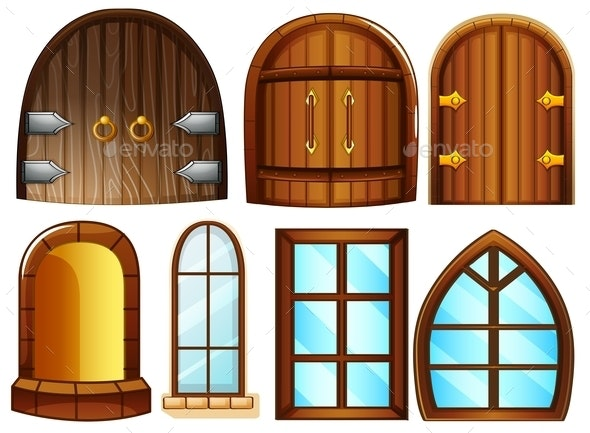 Doors and Windows - Man-made Objects Objects