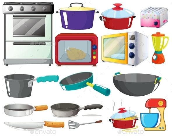 Kitchen Set - Man-made Objects Objects