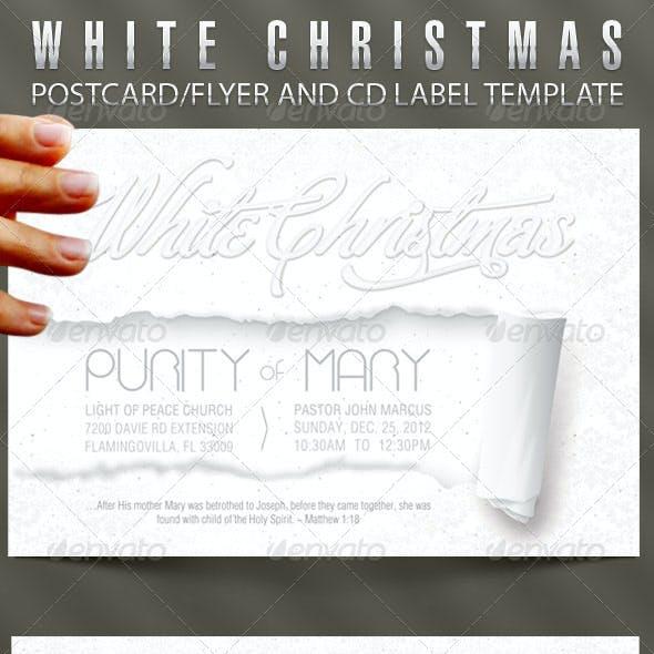 White Christmas Flyer CD Template