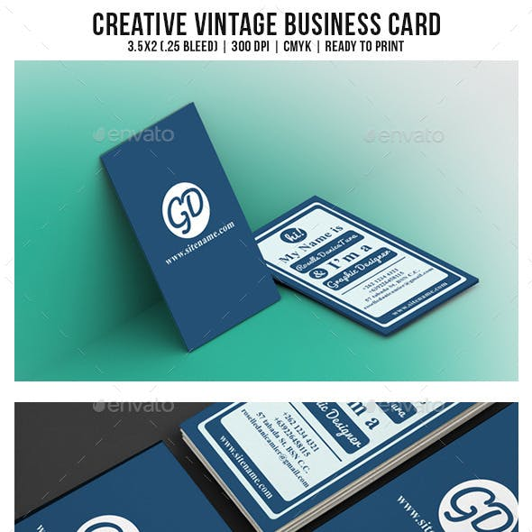 Creative Vintage Business Card