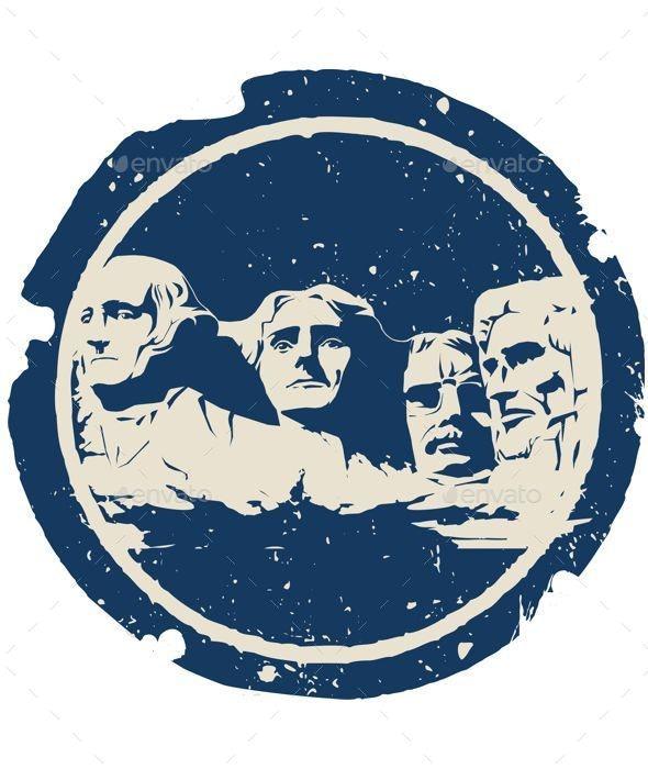 Mount Rushmore - Travel Conceptual