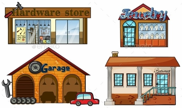 Big Stores - Buildings Objects