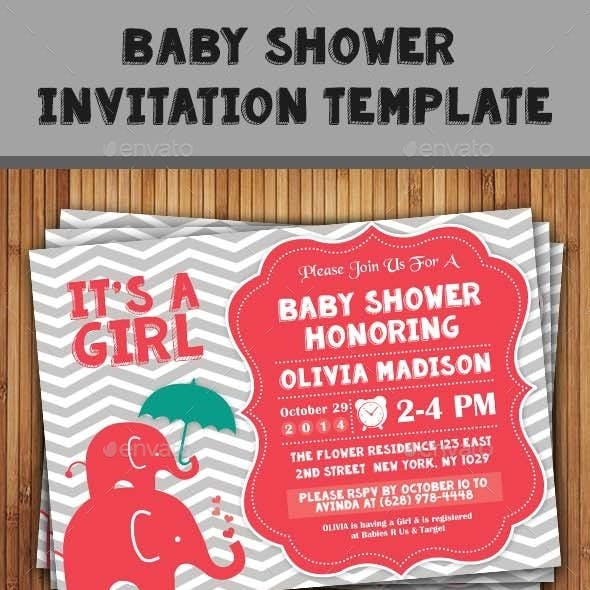 Baby Shower Template - Vol. 8
