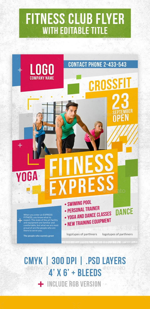 Fitness Club Flyer Template - Corporate Flyers