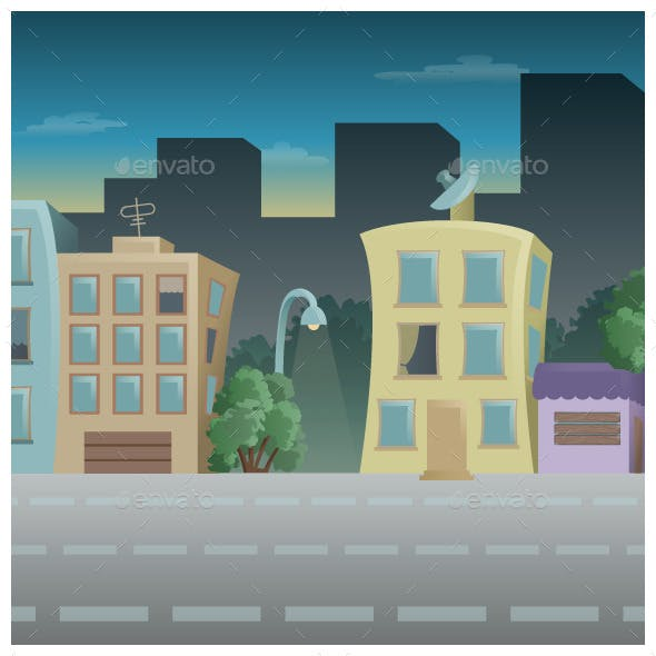 Tileable City Game Background