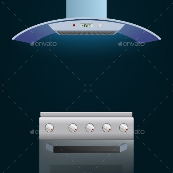 Modern Oven and Extractor