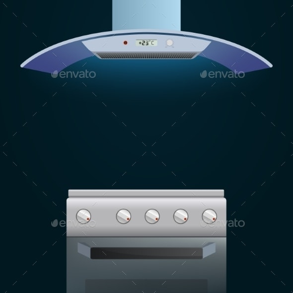 Modern Oven and Extractor - Technology Conceptual