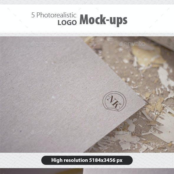 5 Photorealistic Logo Mockups