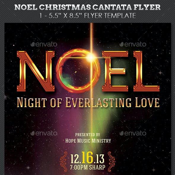 Noel Christmas Cantata Flyer Template