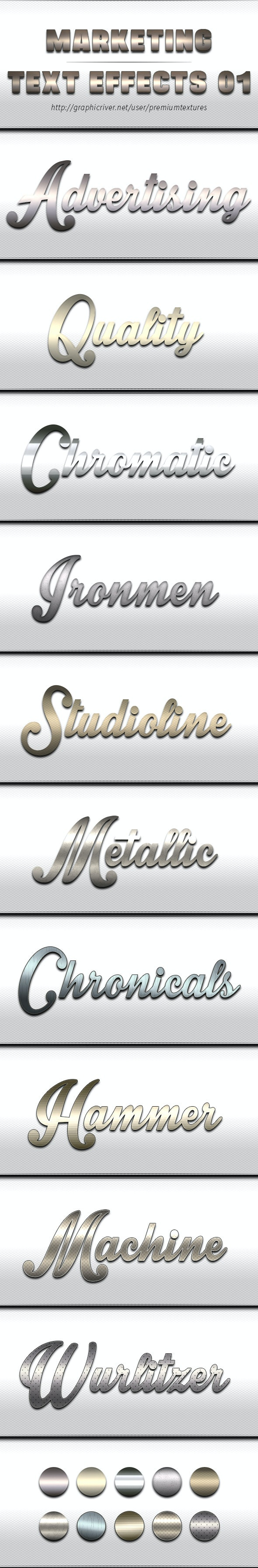 Marketing Text Effects 01 - Text Effects Styles