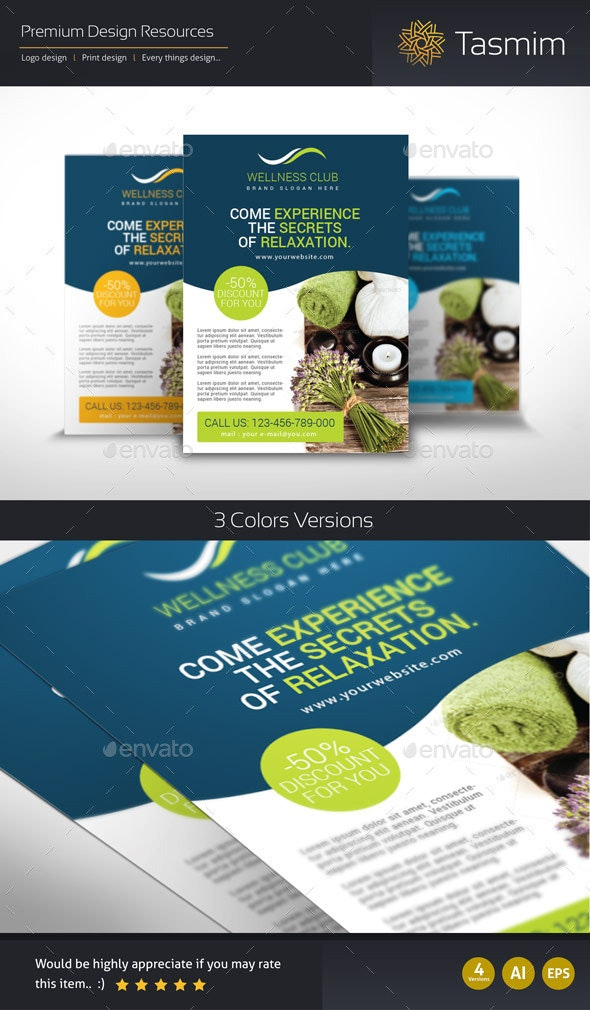 Wellness Club Flyer Template - Sports Events
