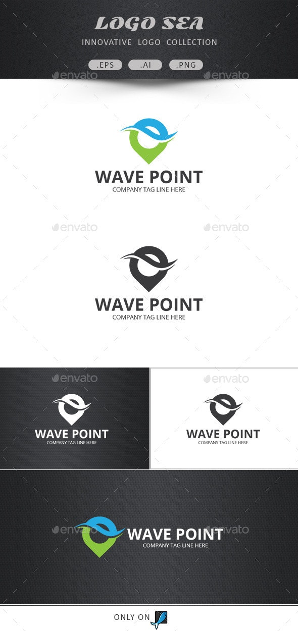 Wave Point Vector Logo - Symbols Logo Templates