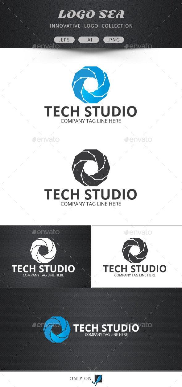 Tech Shutter Vector Logo - Symbols Logo Templates
