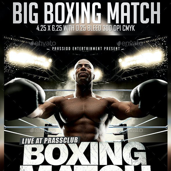 Big Boxing Match Flyer Template